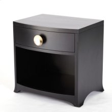 Bow Front One-Drawer Chest-Ebony