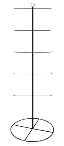 "Black 65"" 5 Tier/10 Arm Stationary Hanging Display."