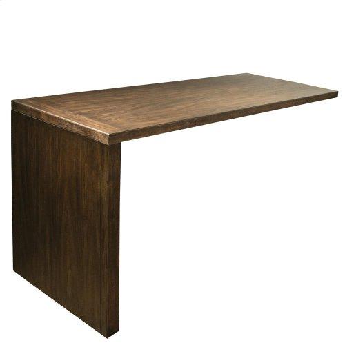 Perspectives - Return Desk - Brushed Acacia Finish