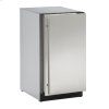 """U-Line Modular 3000 Series 18"""" Solid Door Refrigerator With Stainless Solid Finish And Field Reversible Door Swing (115 Volts / 60 Hz)"""