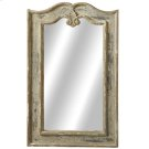 Distressed Black Curved Wall Mirror. Product Image