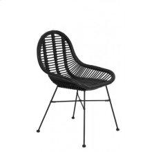Chair 69x56x86 cm BOGOR rattan black