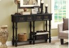"""ACCENT TABLE - 48""""L / ANTIQUE BLACK TRADITIONAL STYLE Product Image"""