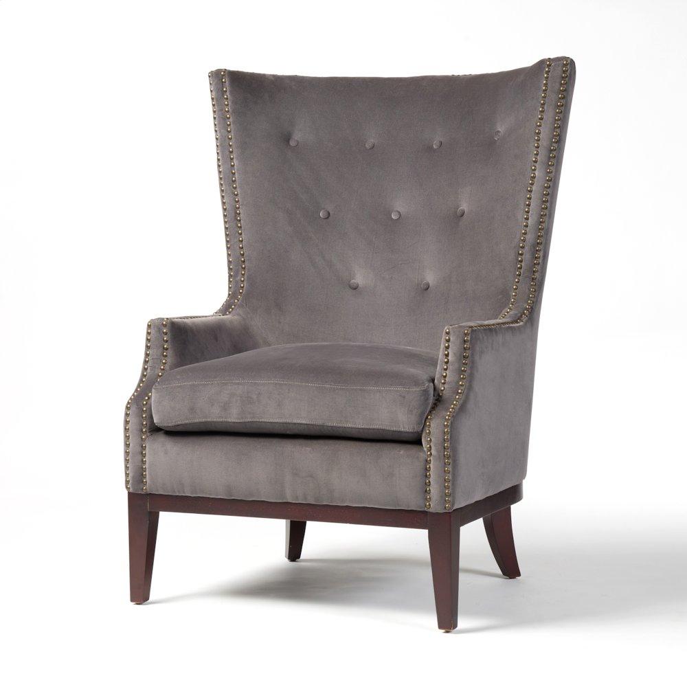 Grey Velvet Cover Lillian Occasional Chair  sc 1 st  Thompson Furniture u0026 Mattress & CKEN49W007 in by Four Hands in Columbus IN - Grey Velvet Cover ...