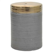 Swirl Garden Stool, Gray/Gold
