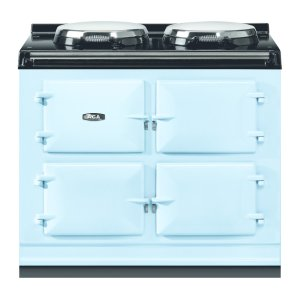 """AGAAGA Total Control 39"""" Electric Duck Egg Blue with Stainless Steel trim"""