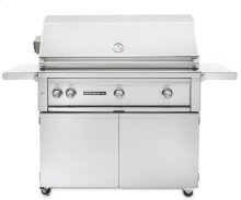 """42"""" Sedona by Lynx Grill Freestanding Grill - 3 SS Tube Burners with Rotisserie NG - Shipps Assembled"""