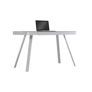 Sleek and simple come together to form this contemporary style desk. A blac... -