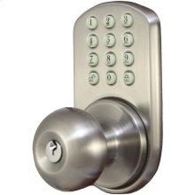 Touchpad Electronic Doorknob (Satin Nickel)