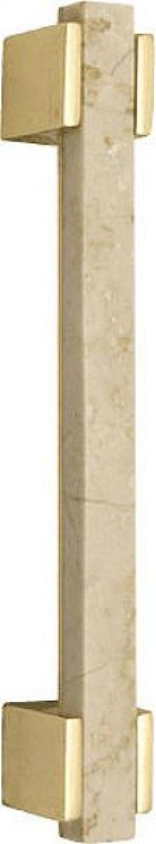 Door Pull With Botticino Marble