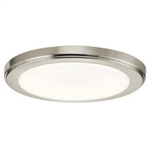 Zeo Collection Zeo 4000K LED 10 Inch round Flushmount NI