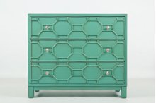 Matrix Accent Chest- Turquoise