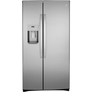 GE® 25.1 Cu. Ft. Side-By-Side Refrigerator - FINGERPRINT RESISTANT STAINLESS