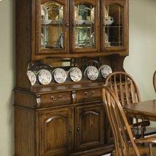 Classic Oak Large China Cabinet