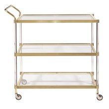 Brushed Gold Bar Cart