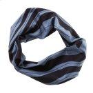 Black & Grey Wave Stretch Headband. Product Image
