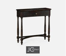 Dark Ale Small Console Table with Drawer