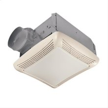 50 CFM Fan/Light with Transparent Polymeric Lens and Resin Grille; 100-watt Incandescent Lighting