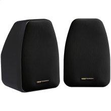 "125-Watt 2-Way 3.5"" Speakers with Keyholes for Versatile Mounting (Black)"
