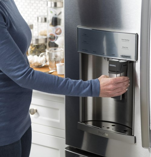 GE Profile Series 22.2 Cu. Ft. Counter-Depth French-Door Refrigerator with Keurig System