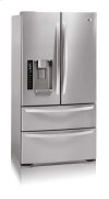 4-Door French Door Refrigerator with Ice and Water Dispenser (20 cu.ft.; Stainless Steel)