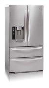 4-Door French Door Refrigerator with Ice and Water Dispenser (20 cu.ft.; Stainless Steel)