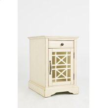 Craftsman Power Chairside Table - Antique Cream