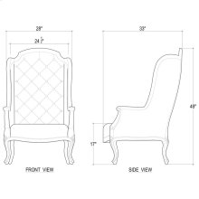 Benodet Wing Chair w/ Tufted Cushion