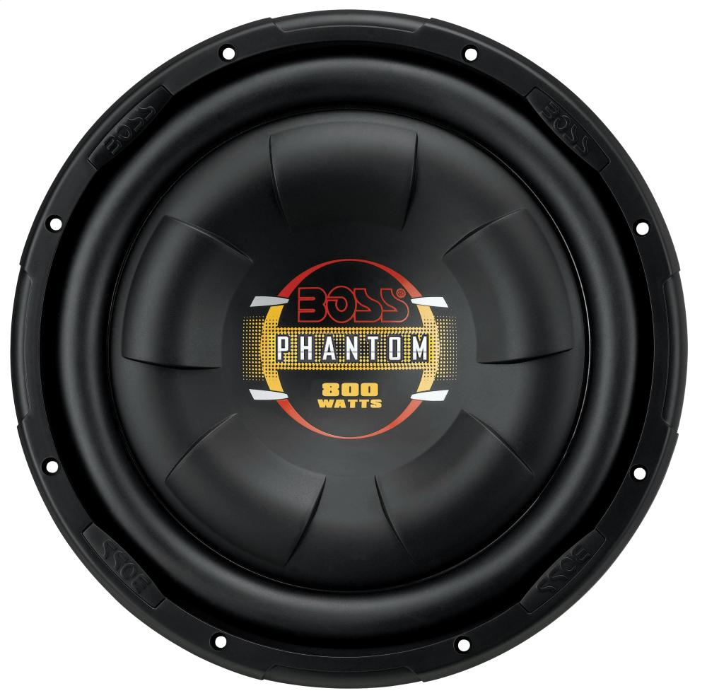 Phantom - 10 inch SINGLE Voice Coil (4 Ohm) 800-watt Subwoofer