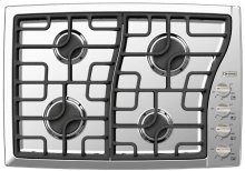 "Stainless Steel 30"" Gas Cooktop - Side Control"