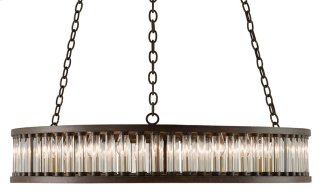 Elixir Round Chandelier - 8.75h x 40dia., adjustable from 19h to 83h