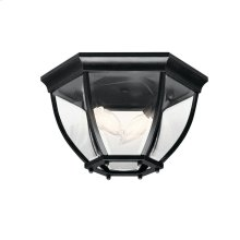 Barrie Collection Barrie 2 Light Outdoor Flush Mount BK