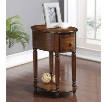 Oval Chairside Table W/power Outlet