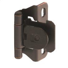 Self-closing, Single Demountable, Partial Wrap 1/4in(6mm) Overlay Hinge