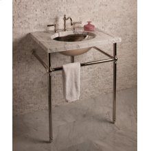 Vintage Console Vintage Console Stand / Polished Nickel