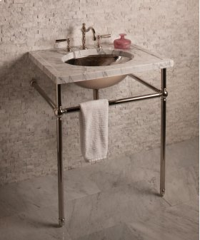 Vintage Console Undermount Oval Sink / Brushed Stainless Steel
