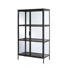 Shelving unit 3 layers 82x40x141,5 cm HARUMA glass+grey gree