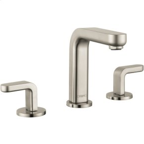 Brushed Nickel Metris S Widespread Faucet with Lever Handles, 1.2 GPM