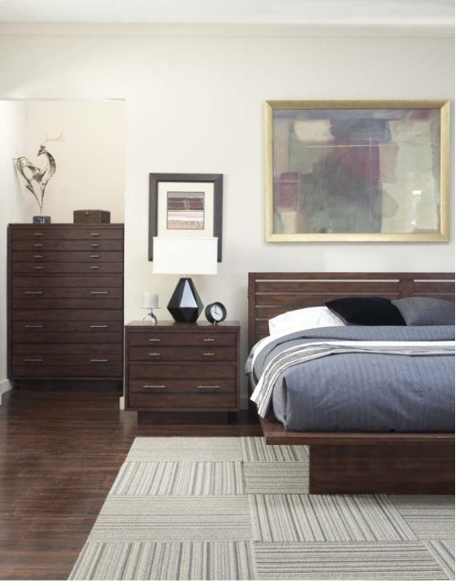 Hudson Platform Bed - Black Tea