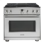 "GE MonogramMonogram 36"" Dual-Fuel Professional Range with 4 Burners and Grill (Natural Gas)"