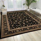 Heritage Hall He29 Blk Rectangle Rug 27'' X 18''