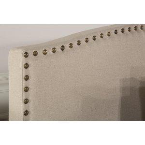Kerstein Fabric Headboard - Twin - Headboard Frame Not Included - Lt Taupe