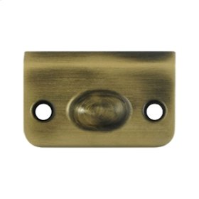 Strike Plate for Ball Catch and Roller Catch - Antique Brass