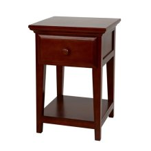 1 Drawer Night Stand with Shelf : Chestnut