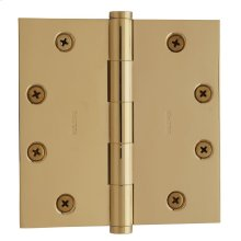 Lifetime Polished Brass Square Corner Hinge