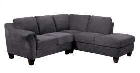 Emerald Home Clayton II 2pc Sectional W/2 Accent Pillows-charcoal U8060e-11-12-23-k