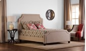 Parker Bed Set - King - Rails Included - Linen Stone
