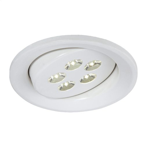 4-INCH 5 x 1W CONVERSION KIT ROUND - White