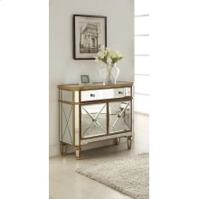 Gold and Mirrored 1 Drawer 2 Doors