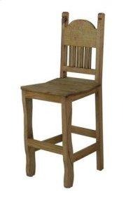 "24"" Barstool W/Wood Seat Product Image"